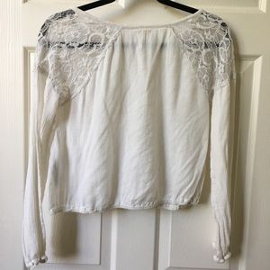 Hollister Tops - Hollister White Lace Blouse